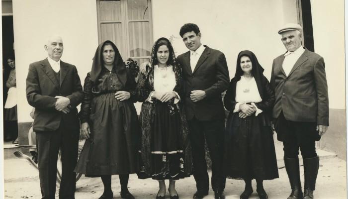 00014 Gli sposi Salvatore Mele e Chessa Petronilla