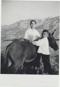 Giuseppa Chessa con Giorgio Secci: archivio popolare fotografico